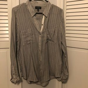 Lucky brand striped button up